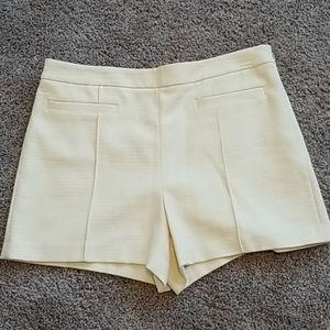 Ann Taylor cream colored dress shorts-14